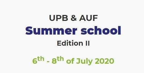 The 2nd edition of the UPB & AUF Summer School took place online this year