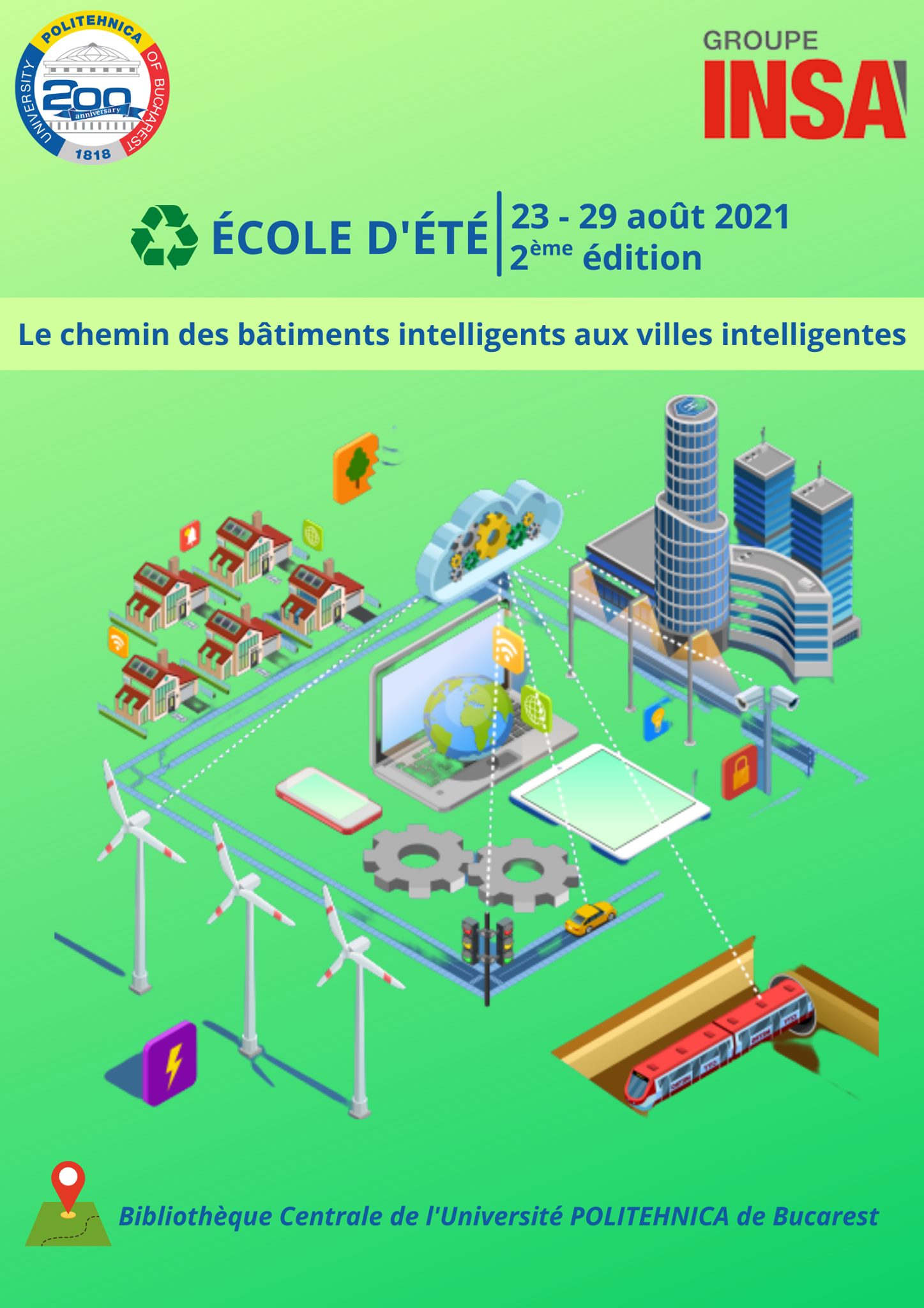 UPB & Groupe INSA Summer School 'The Way from Smart Buildings to Smart Cities'