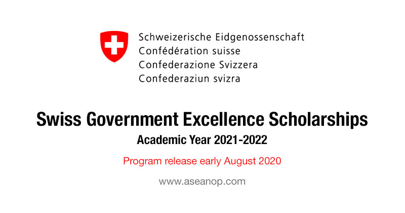 Swiss Government Excellence Scholarships for Foreign Scholars and Artists for the 2021-2022 Academic Year